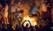 Four North Carolina Fans Burned by Victory Bonfires After National Championship Win (Video)