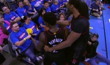 NBA Investigating Incident Between Patrick Beverley & OKC Fan During Game 3 (VIDEOS)