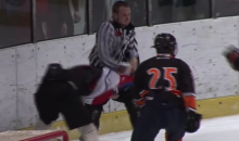 Ref, Player Exchange Punches During Youth Hockey Brawl (VIDEO)