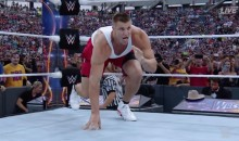 Rob Gronkowski is Knocking People Out at Wrestlemania (VIDEO)