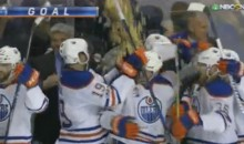 Sharks Fans Dump Popcorn on Oilers In Final Seconds of San Jose's Season (VIDEO)