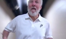 Gregg Popovich Raced a Cameraman Through the Arena Hallway During Game 3 Arrival (Video)