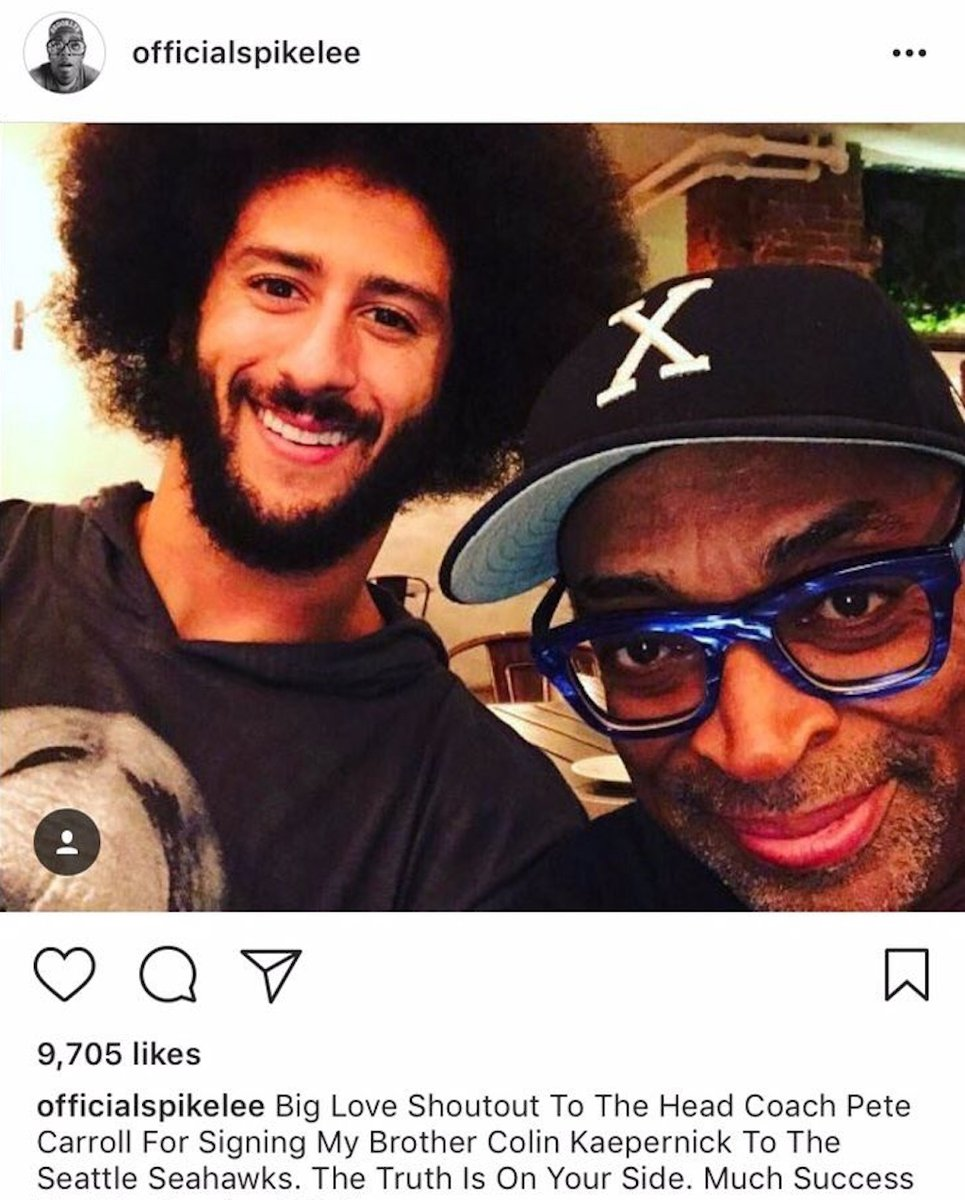 Spike Lee thanks Pete Carroll for Colin Kaepernick interest