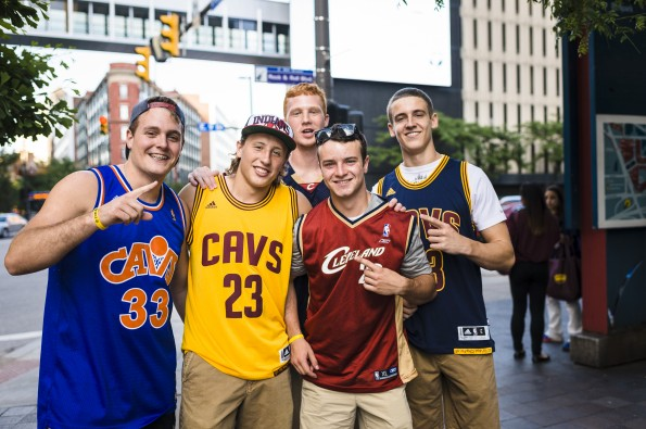 Cleveland Cavaliers Fans Gather To Watch Game 6 Of NBA Finals Against The Golden State Warriors