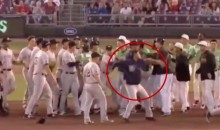 Minor League Brawl Features Player Throwing A Ball At Another Player's Head (VIDEO)