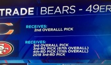 49ers' Reaction to the Bears Moving Up to Draft Mitch Trubisky Is Priceless