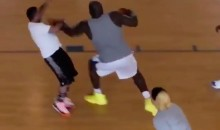 Old Man Shaquille O'Neal Just Abuses Some Guy in the Paint During a Pickup Game (Video)