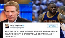 Skip Bayless Goes On A crazy Anti-LeBron James Rant on Twitter After Kawhi Leonard Injury (TWEETS)