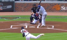 Braves Bean Jose Bautista in First At-Bat After Controversial Bat Flip (Video)