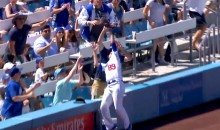 Dodgers Ballgirl Makes Amazing Snag on Dangerous Foul Ball (Video)