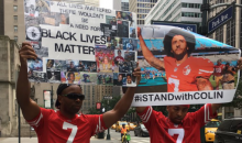 People Show Up in Support of Colin Kaepernick Outside NFL Headquarters (VIDEO)