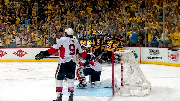 penguins beat senators game 7 double overtime