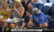 Kid At Pirates Game Appears To Take A Swig Of Beer While 'Kids Day' Promotion Is Playing (VIDEO)