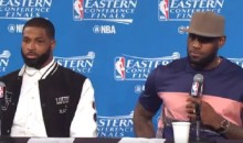 Salty LeBron Gets Upset at Reporter Because He Only Asks Questions When They Lose (VIDEO)