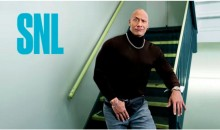 The Rock Recreated His Famous (Infamous?) 'Black Turtleneck and Fanny Pack' Photo for 'SNL'
