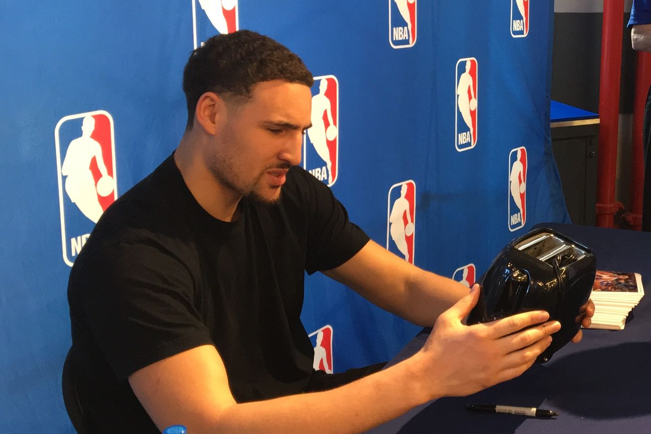 The Warriors Are 27 1 Since Klay Thompson Signed A Toaster