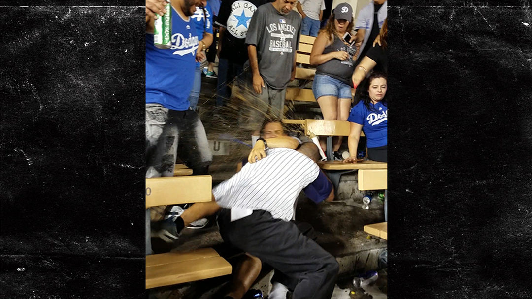 Bloody Brawl Breaks Out At Dodgers vs. Angels Game (VIDEO ...