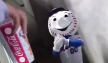 Employee In Mr. Met Costume Fired After He Was Caught on Camera Flipping Off Fans (VIDEO)