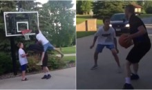 Delivery Guy Drops Pizza After Getting Dunked On; Challenges Kid to 1-On-1 (VIDEO)