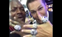 Martellus Bennett Receives Super Bowl Ring, Gets Shown Up By Tom Brady (Video)