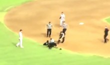 Field Invader at Cardinals Game Learns Lesson the Hard Way: Never Bump a Player (Video)