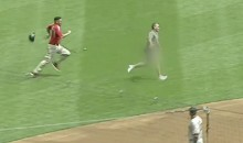 NSFW: Streaker Runs Onto Field in Milwaukee During Brewers-Giants Game (VIDEOS)