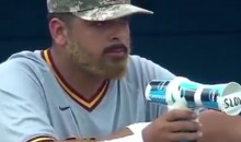 NCAA Player Trolls Opposing Pitcher With Makeshift Radar Gun (VIDEO)
