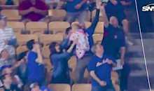 Mets Fan Goes For Foul Ball While Holding A Baby, Wife Grabs Child & Goes Off On Him (VIDEO)