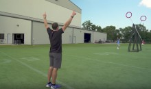 Drew Brees Looks Impressive During Dude Perfect Trick-Shot Session (Video)