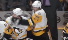 Evgeni Malkin Lands Accidental Left To Phil Kessel's Face During Bench Celebration (VIDEO)