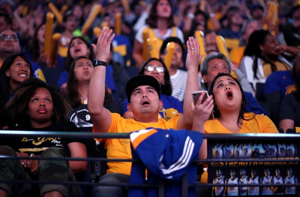 Golden State Warriors Fans Gather To Watch Their Team In Game Four Against The Cleveland Cavaliers