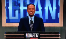 Mark Tatum Can't Contain Laughter As Fans Yell Out Draft Picks Before He Can (VIDEO)