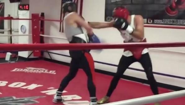 McGregor sparring