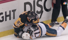 Sidney Crosby Mashes P.K. Subban's Head Into Ice During Game 5 (VIDEO)