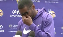 Randy Moss Breaks Down While Discussing Late Coach Dennis Green (VIDEO)