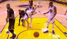 Draymond Green Catches Upside Down Klay Thompson, Saves His Life (Video)