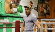 Conor McGregor TROLLS Floyd Mayweather With EPIC Mural on Gym Wall (PICS)