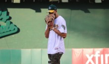 NBA Champion JaVale McGee NAILS Ceremonial First Pitch at A's Game (Videos)