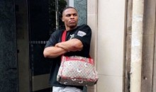 Russell Westbrook Proves He Can Look Stylish Even While Wearing a Diaper Bag (PICS)
