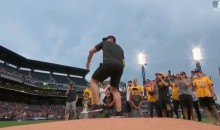 Sidney Crosby Throws Impressive Curveball During First Pitch at Pirates Game (Video)