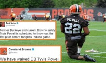 Browns Cut Player Hours Before He's Expected To Throw Out The First Pitch For Indians