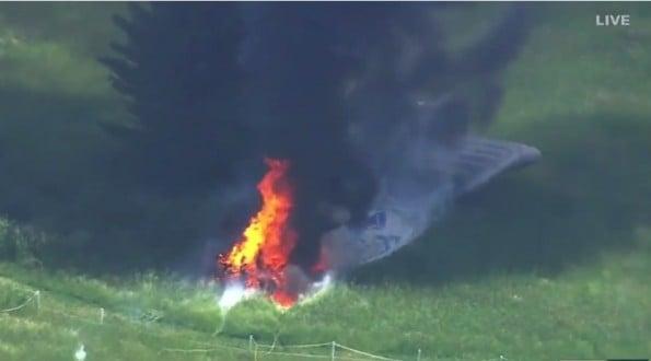 US Open Blimp Fire