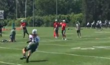 Footage Shows Jets QB Christian Hackenberg Hitting Another Reporter With Terrible Pass In Practice (VIDEO)