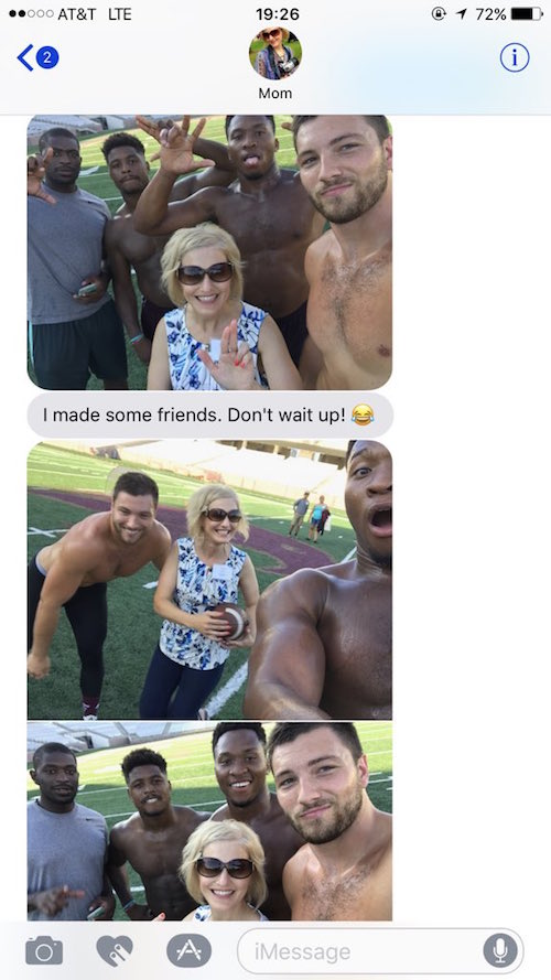 cougar mom hangs with texas state football team 1