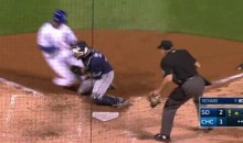 Padres Livid After Anthony Rizzo Home Plate Collision Knocks Catcher Out of Game (Video)