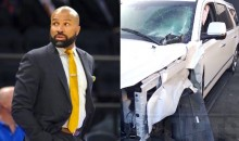 Photos and Video of Derek Fisher DUI Crash Released…He's Lucky to Be Alive (Pics + Video)