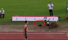Olympic Medalist Loses Her Wig On Long Jump (VIDEO)