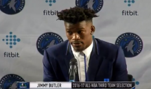 Timberwolves' Jimmy Butler Gives Out His Phone Number So His Critics Can Talk To Him Personally (VIDEO)