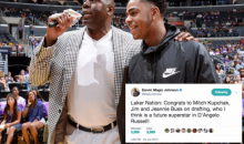 Social Media Dug Up Old Tweets From Magic Johnson Praising D'Angelo Russell After He Got Traded (TWEETS)