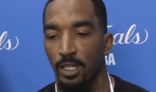 "JR Smith Says Cavs Are Physical But Warriors Have A ""Guy That Keeps Kicking People in the Nuts"" (VIDEO)"